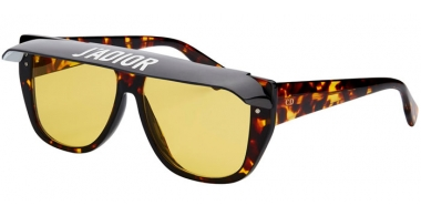 Sunglasses - Dior - DIORCLUB2 - 086 (HO) DARK YELLOW HAVANA // YELLOW (BLACK AND WHITE VISOR)