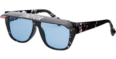 Sunglasses - Dior - DIORCLUB2 - 9WZ (KU) DARK CRYSTAL HAVANA // LIGHT BLUE (BLACK AND PINK VISOR)
