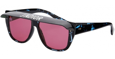Sunglasses - Dior - DIORCLUB2 - JBW (U1) DARK LIGHT BLUE HAVANA // FUCHSIA (BLACK AND DARK GREEN VISOR)