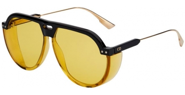 Sunglasses - Dior - DIORCLUB3 - 71C (HO) BLACK YELLOW GOLD // YELLOW