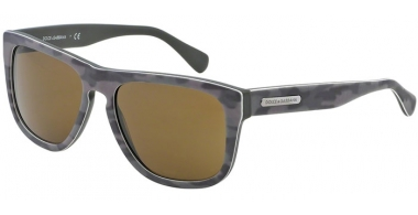 Gafas de Sol - Dolce & Gabbana - DG4222 - 280473  TOP MIMETIC MATTE MILITARY GREEN // BROWN