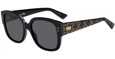 Sunglasses - Dior - LADYDIORSTUDS - 807 (2K) BLACK // GREY ANTIREFLECTION