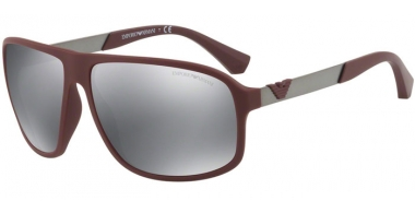 Gafas de Sol - Emporio Armani - EA4029 - 56066G BORDEAUX RUBBER // LIGHT GREY MIRROR BLACK