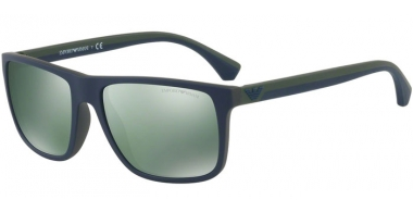 Gafas de Sol - Emporio Armani - EA4033 - 56156R TOP BLUE ON GREEN RUBBER // LIGHT GREEN MIRROR PETROL