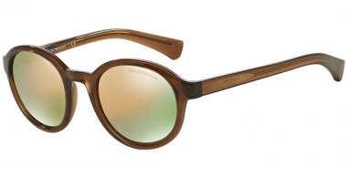 Sunglasses - Emporio Armani - EA4054 - 53744Z TRANSPARENT BROWN // GREY MIRROR ROSE GOLD