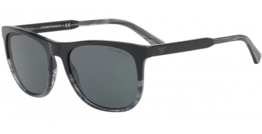Sunglasses - Emporio Armani - EA4099 - 556687 BLACK TR STRIPED GREY // GREY