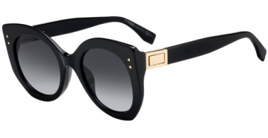 Sunglasses - Fendi - FF 0265/S - 807 (9O) BLACK // DARK GREY GRADIENT