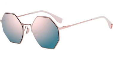 Sunglasses - Fendi - FF 0292/S - 35J (0J)  PINK // GREY ROSE GOLD MIRROR