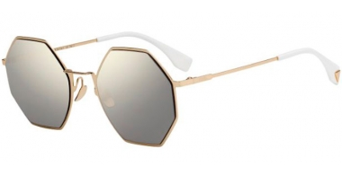 Sunglasses - Fendi - FF 0292/S - J5G (UE)  GOLD // GREY IVORY MIRROR