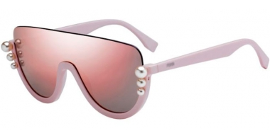 Sunglasses - Fendi - FF 0296/S - 35J (0J)  PINK // GREY ROSE GOLD MIRROR