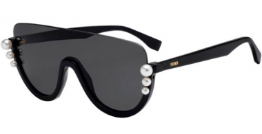 Sunglasses - Fendi - FF 0296/S - 807 (IR)  BLACK // GREY
