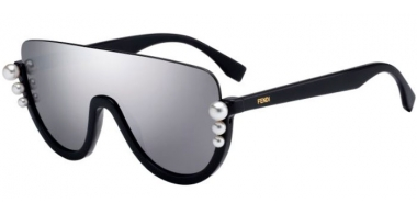 Sunglasses - Fendi - FF 0296/S - KB7 (0T)  GREY // GREY SILVER MIRROR ANTIREFLECTION