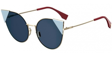 Gafas de Sol - Fendi - FF 0190/S - 000 (A9) ROSE GOLD // BLUE GREY ANTIREFLECTION