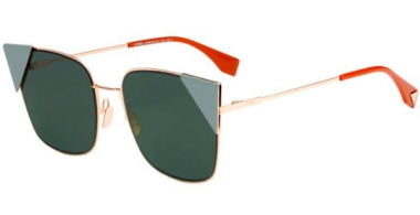 Gafas de Sol - Fendi - FF 0191/S - DDB (O7) GOLD COPPER // GREEN LIGHT GREEN ANTIREFLECTION