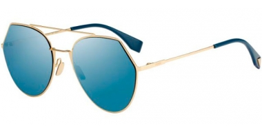 Sunglasses - Fendi - FF 0194/S - 000 (2A) ROSE GOLD // BLUE MIRROR ANTIREFLECTION