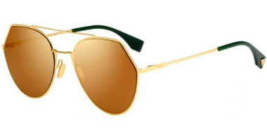 Sunglasses - Fendi - FF 0194/S - 001 (83) YELLOW GOLD // BROWN GOLD MIRROR ANTIREFLECTION MULTILAYER