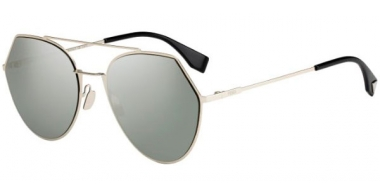 Sunglasses - Fendi - FF 0194/S - 3YG (0T) LIGHT GOLD // GREY SILVER ANTIREFLECTION