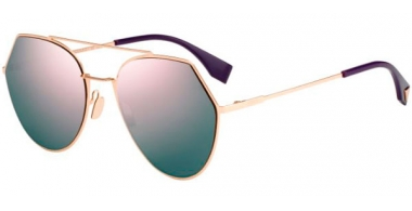 Sunglasses - Fendi - FF 0194/S - DDB (AP) GOLD COPPER // GREY MULTILAYER ROSE GOLD ANTIREFLECTION