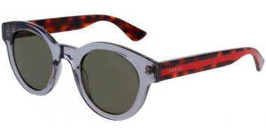 Sunglasses - Gucci - GG0002S - 006 GREY // GREEN