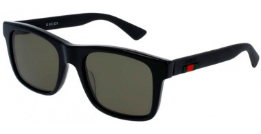 Sunglasses - Gucci - GG0008S - 001 Calibre53 BLACK // GREEN