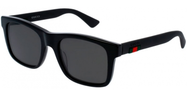 Sunglasses - Gucci - GG0008S - 002 Calibre53 BLACK // GREY POLARIZED