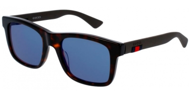 Sunglasses - Gucci - GG0008S - 003 Calibre53 HAVANA  BROWN // BLUE MIRROR