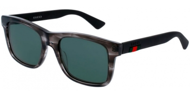 Sunglasses - Gucci - GG0008S - 004 Calibre53 GREY BLACK  // GREEN