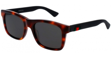 Sunglasses - Gucci - GG0008S - 006 Calibre53 HAVANA BLACK  // GREY POLARIZED
