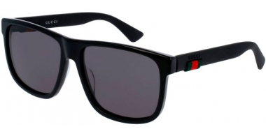 Sunglasses - Gucci - GG0010S - 001 BLACK // GREY