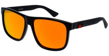 Sunglasses - Gucci - GG0010S - 002 BLACK // RED MIRROR