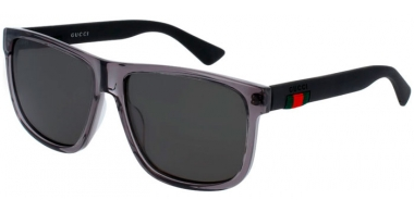 Sunglasses - Gucci - GG0010S - 004 GREY BLACK // GREY POLARIZED