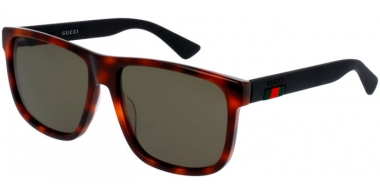 Sunglasses - Gucci - GG0010S - 006 HAVANA BLACK // GREEN