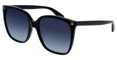 Sunglasses - Gucci - GG0022S - 001 BLACK // GREY GRADIENT