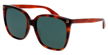 Sunglasses - Gucci - GG0022S - 002 HAVANA // GREEN