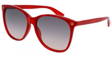 Sunglasses - Gucci - GG0024S - 006 RED // BROWN GRADIENT