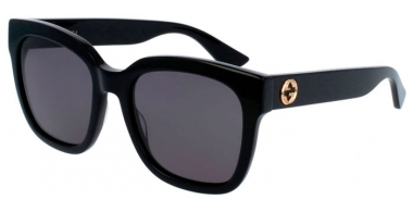 Sunglasses - Gucci - GG0034S - 001 BLACK // GREY