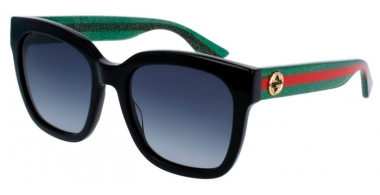 Sunglasses - Gucci - GG0034S - 002 BLACK GREEN // GREY GRADIENT