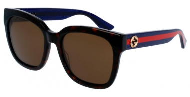 Sunglasses - Gucci - GG0034S - 004 HAVANA BLUE // BROWN