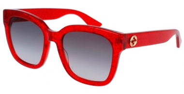 Sunglasses - Gucci - GG0034S - 006 RED // GREY GRADIENT