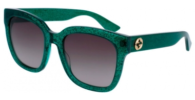 Sunglasses - Gucci - GG0034S - 007 GREEN // BROWN GRADIENT