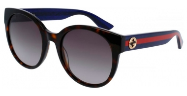 Gafas de Sol - Gucci - GG0035S - 004 HAVANA BLUE // BROWN GRADIENT
