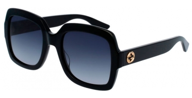 Sunglasses - Gucci - GG0036S - 001 BLACK // GREY GRADIENT