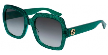 Sunglasses - Gucci - GG0036S - 006 GREEN // GREY GRADIENT
