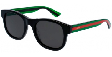 Gafas de Sol - Gucci - GG0003S - 006 BLACK GREEN // GREY POLARIZED