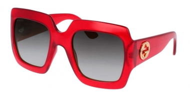 Sunglasses - Gucci - GG0053S - 003 RED // GREY GRADIENT