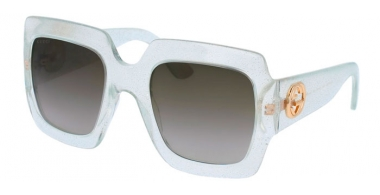 Sunglasses - Gucci - GG0053S - 004 SILVER // BROWN GRADIENT