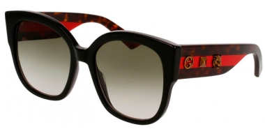 Sunglasses - Gucci - GG0059S - 001 BLACK // GREEN GRADIENT