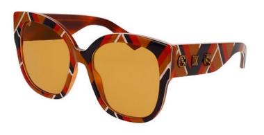 Sunglasses - Gucci - GG0059S - 003 MULTICOLOR // BROWN