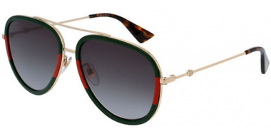 Sunglasses - Gucci - GG0062S - 003 GREEN RED GOLD // GREEN GRADIENT