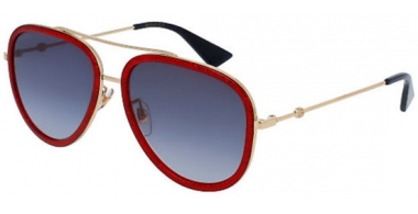 Sunglasses - Gucci - GG0062S - 005 RED GOLD // BLUE GRADIENT